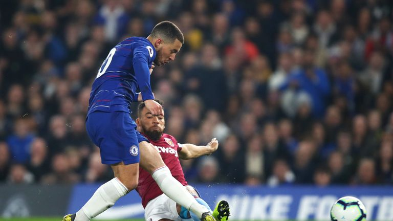 Eden Hazard put Chelsea 1-0 up with one of the goals of the season