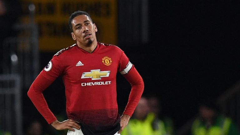 Chris Smalling of Manchester United was abused online following their loss to Barcelona