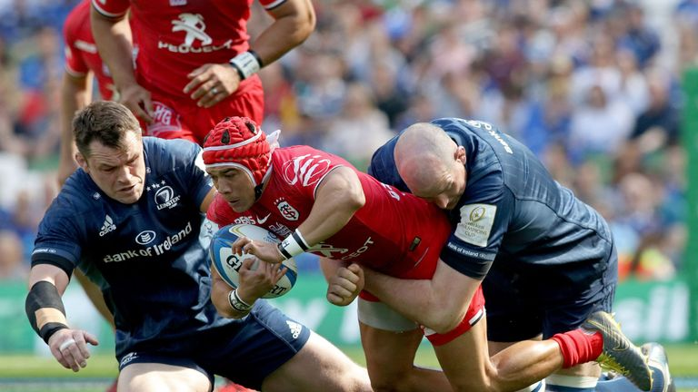 Cian Healy, left, produced another inspirational display for Leinster