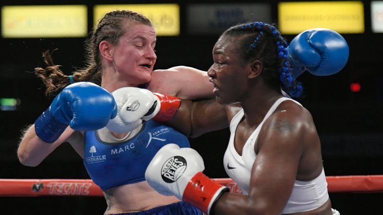 Shields trades punches with Femke Hermans