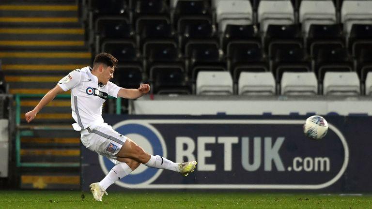 Dan James scored the opener for Swansea