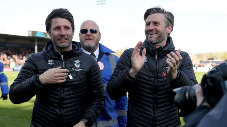 Danny and Nicky Cowley achieved two promotions at Lincoln in three years