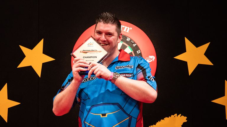 Gurney won the German Darts Championship at the weekend