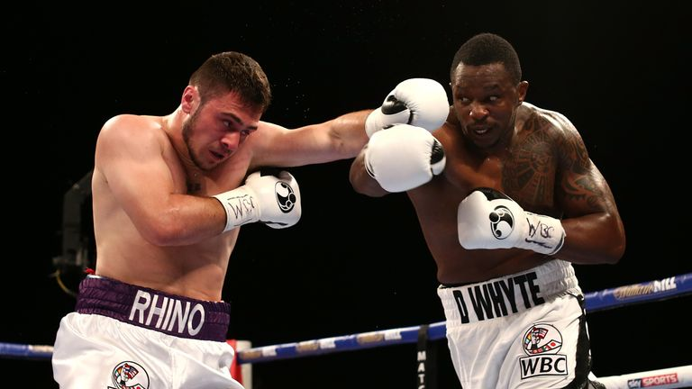 David Allen lost his first big fight, against Dillian Whyte