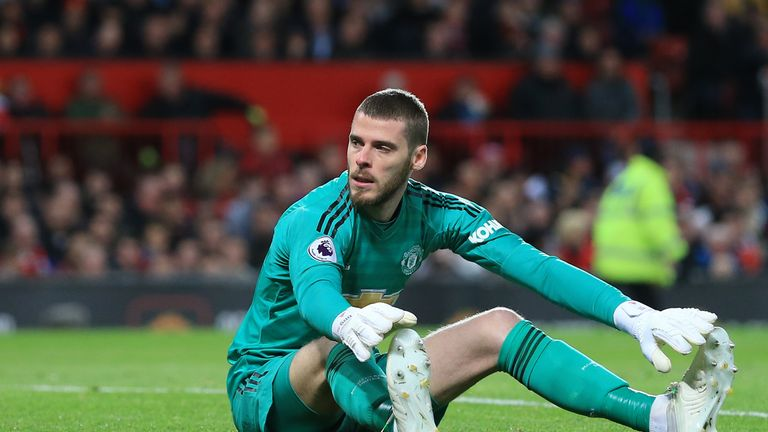 David de Gea is struggling badly for form at Manchester United