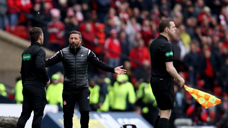 Derek McInnes has questioned the decision-making of the officials