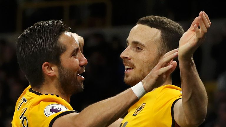 Wolves duo Diogo Jota and Joao Moutinho are in the squad
