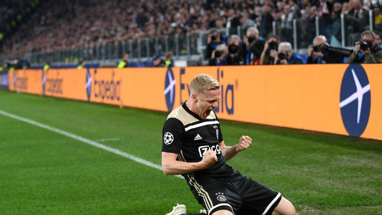 Ajax will be in the semis after a surprise win over Juventus