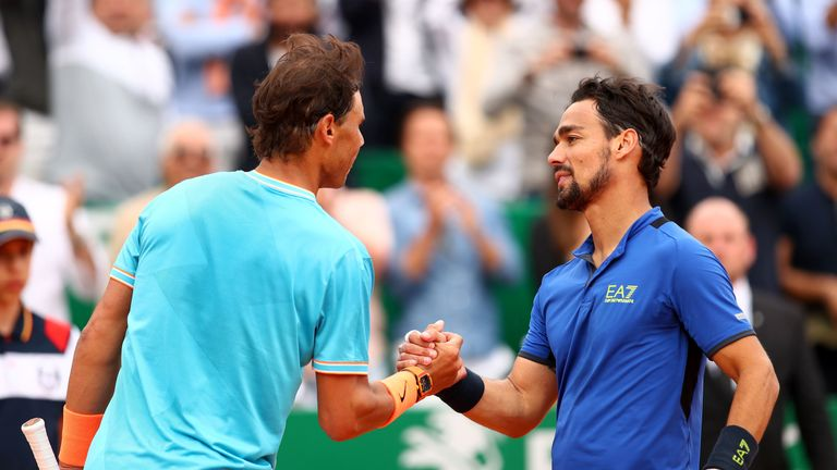 Fabio Fognini produced an impressive performance to beat Nadal