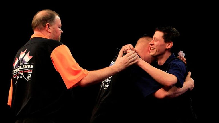 Five-time world champion Van Barneveld and world No 1 Van Gerwen were dumped out by rank outsiders Finland in 2013