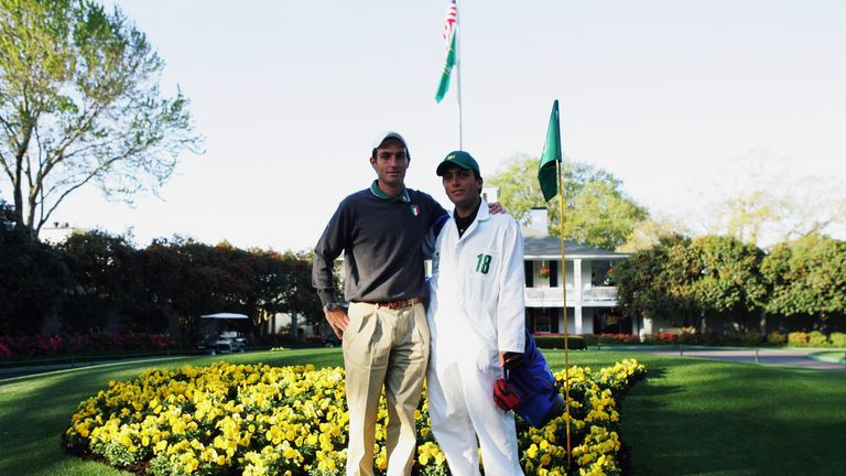 Molinari caddied for brother Edoardo at Augusta  in 2006