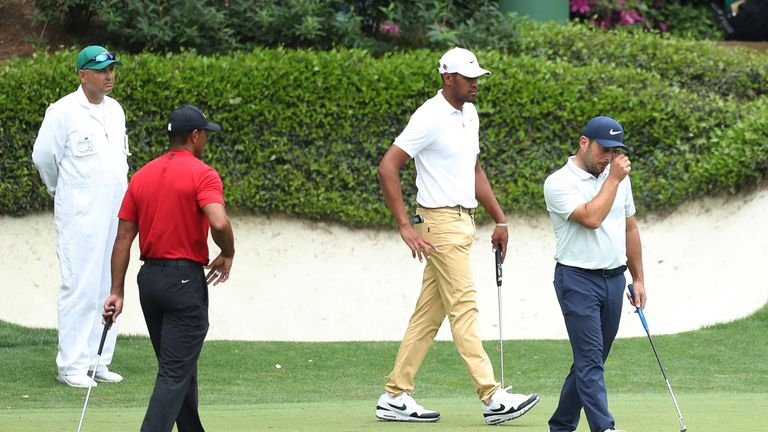 Woods played alongside Francesco Molinari and Tony Finau on the final day