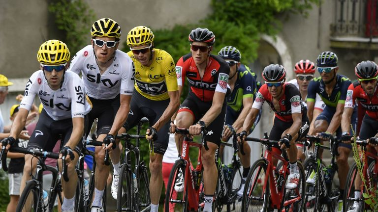 Froome has won the famous Tour de France yellow jersey four times