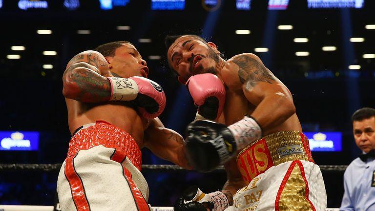 Davis (left) is the WBA 'super' super-featherweight champion