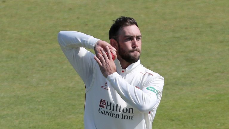 Glenn Maxwell picked up four wickets for Lancashire after returning from World Cup duty