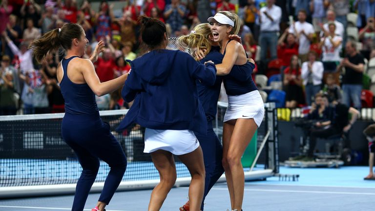 Great Britain ended a 26-year wait for Fed Cup promotion