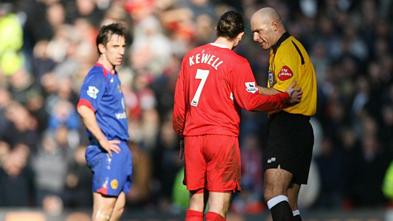 Neville notes how traditional wingers like Harry Kewell (pictured), Jason Wilcox and Trevor Sinclair would always play outside of him, never inside