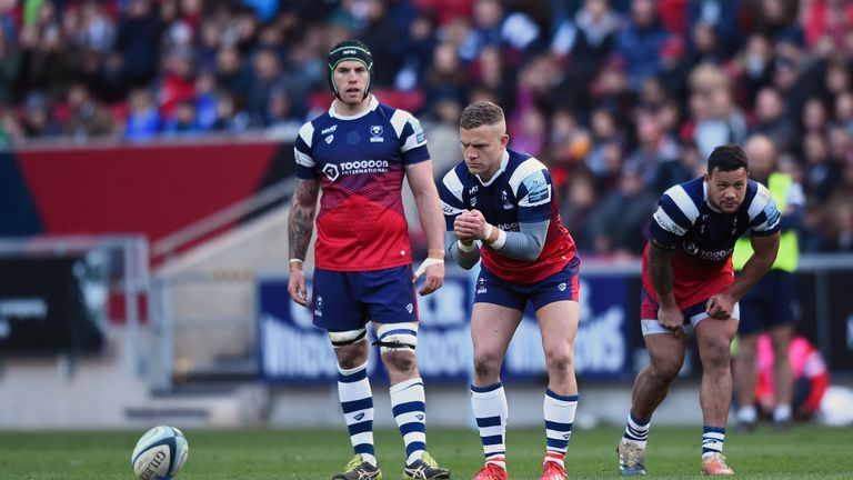 Ian Madigan is on the bench for Bristol Bears