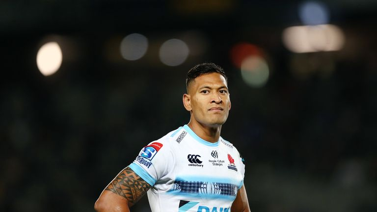 Wallabies star Israel Folau could be dropped after 'unacceptable' Instagram post