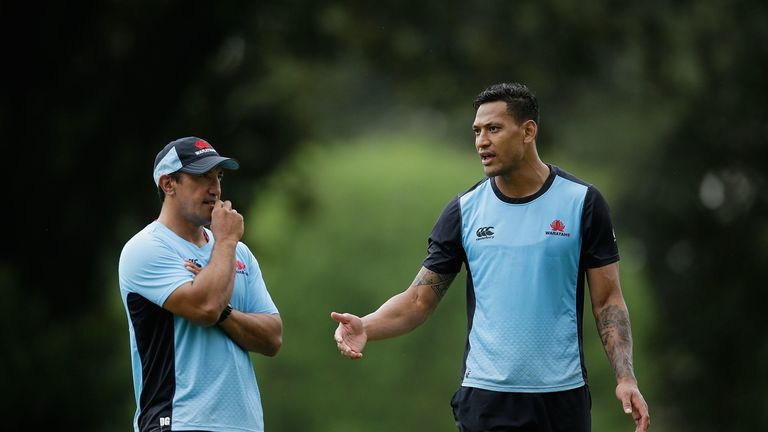 Waratahs head coach Daryl Gibson is disappointed with Israel Folau's comments
