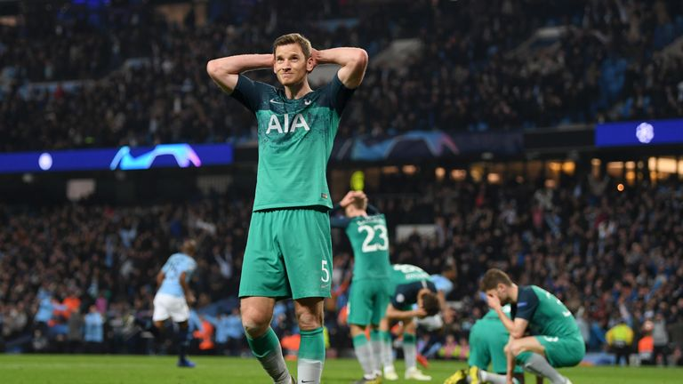 Jan Vertonghen had thought Spurs had been knocked out before VAR intervened