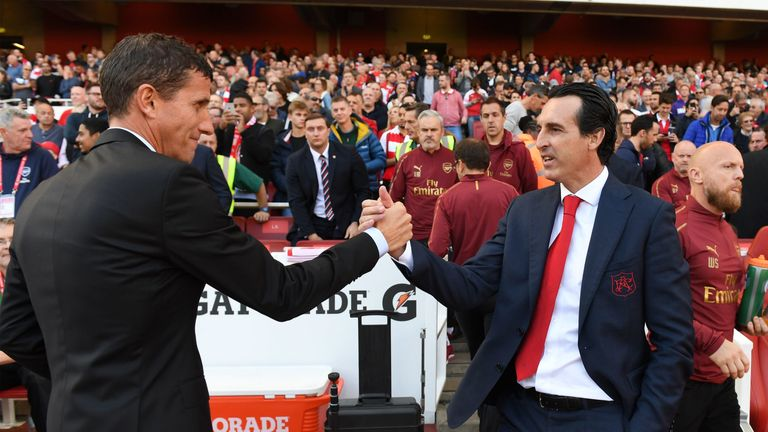 Javi Gracia and Emery were team-mates at Real Sociedad