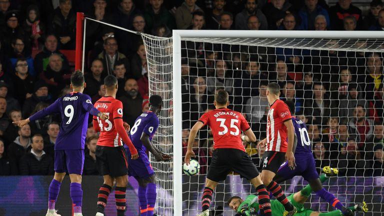 Keita scored Liverpool's opener against Southampton last week