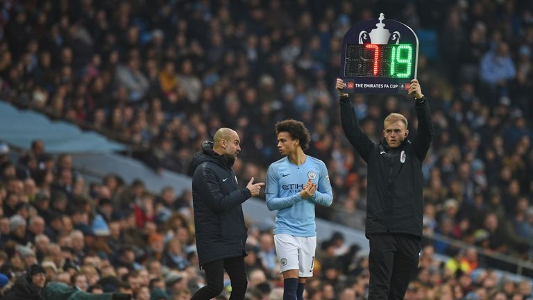 Leroy Sane has found his game time limited this season at Manchester City