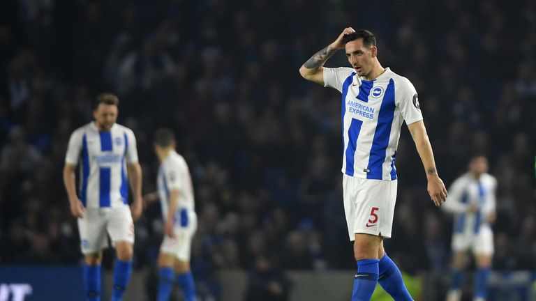 Lewis Dunk has been looked at by Leicester