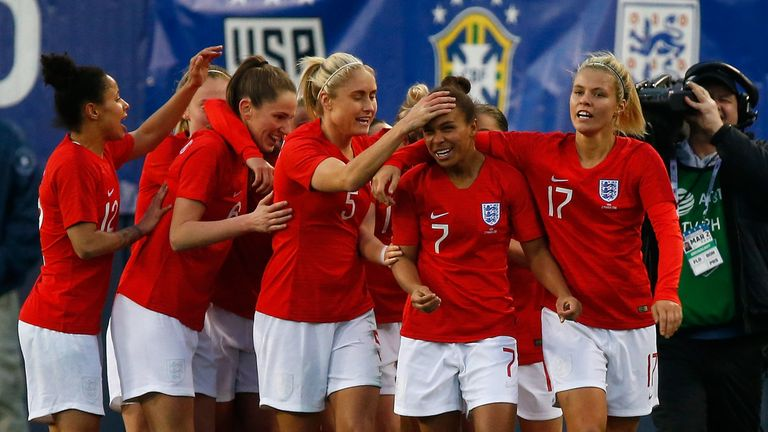 England warmed up by winning the 2019 SheBelieves Cup
