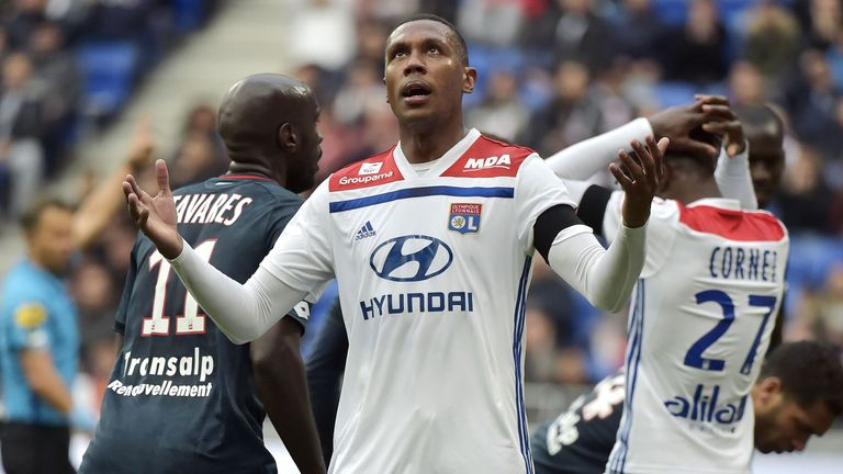 Lyon defender Marcelo Guedes Filho reacts during his side's 3-1 defeat to Dijon