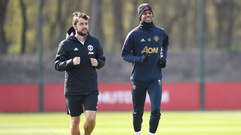 Marcus Rashford trained separately from the Manchester United squad on Tuesday