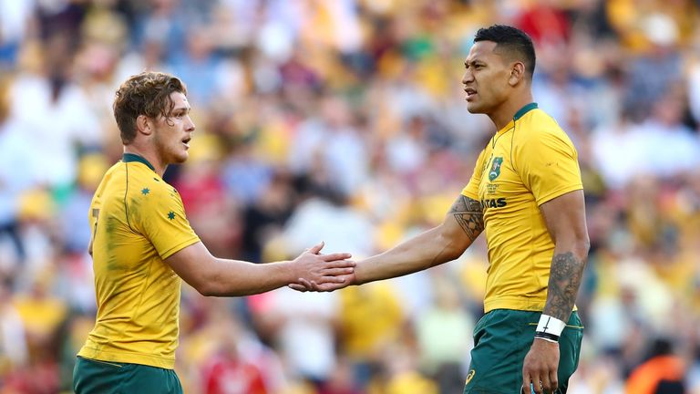 Michael Hooper says he would find it 'difficult' to play with Israel Folau going forward