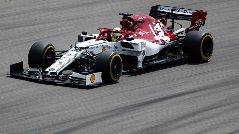 Mick Schumacher was in the Alfa Romeo a day after testing Ferrari
