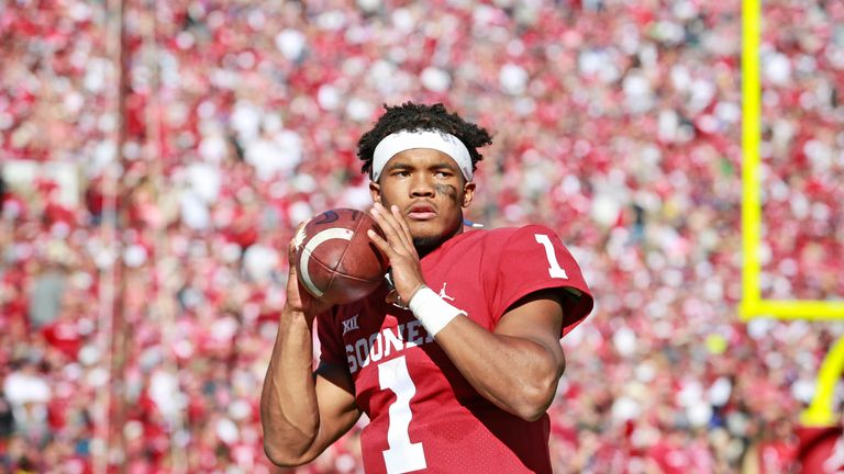 Oklahoma graduate Kyler Murray is rumoured to the first overall pick in the 2019 NFL Draft