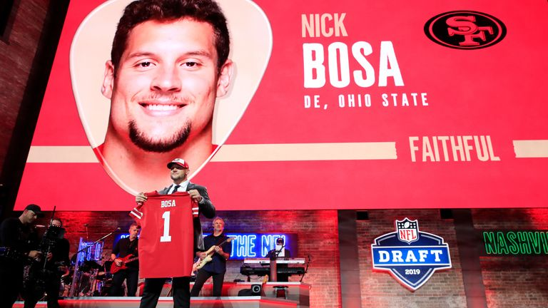 The San Francisco 49ers picked Nick Bosa second overall in the Draft - he joins his brother, Chargers defensive star Joey, in the NFL