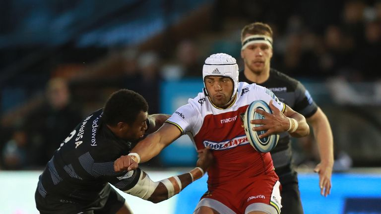 Luther Burrell is tackled by Nemani Nagusa