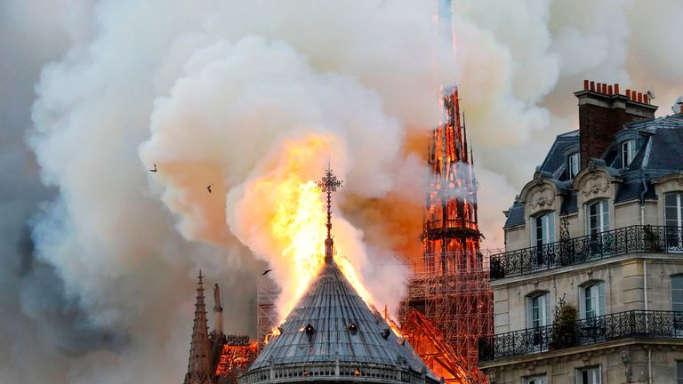 Footballers took to social media to express their sorrow at the Notre Dame fire