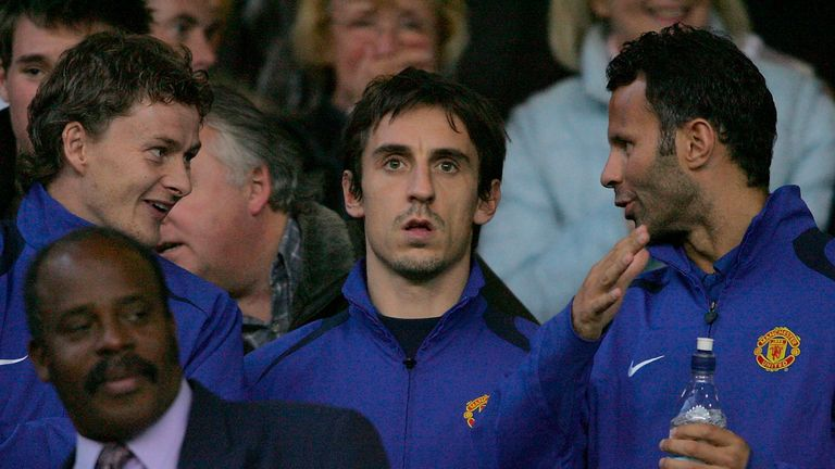 Neville remembers how Solskjaer would watch games intently from the bench to identify space
