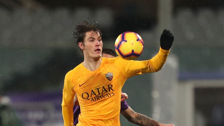Roma striker Patrik Schick was watched by RB Leipzig scouts this weekend