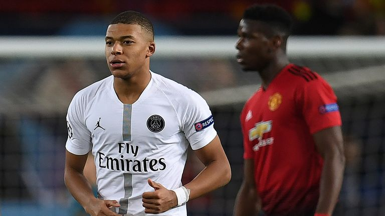 Paul Pogba and Kylian Mbappe are on Real Madrid's target list