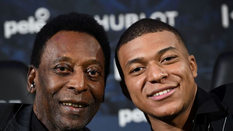 Pele had met PSG's Kylian Mbappe at an event prior to falling ill