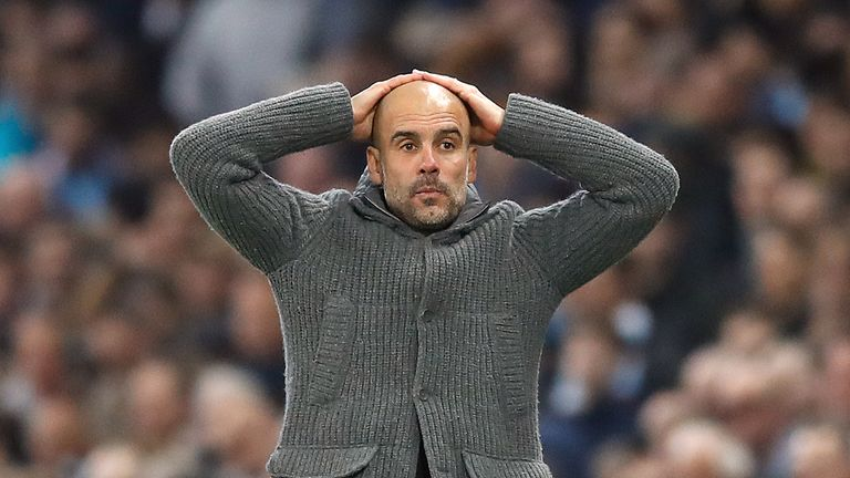 Pep Guardiola expresses despair after VAR rules out Sterling's strike
