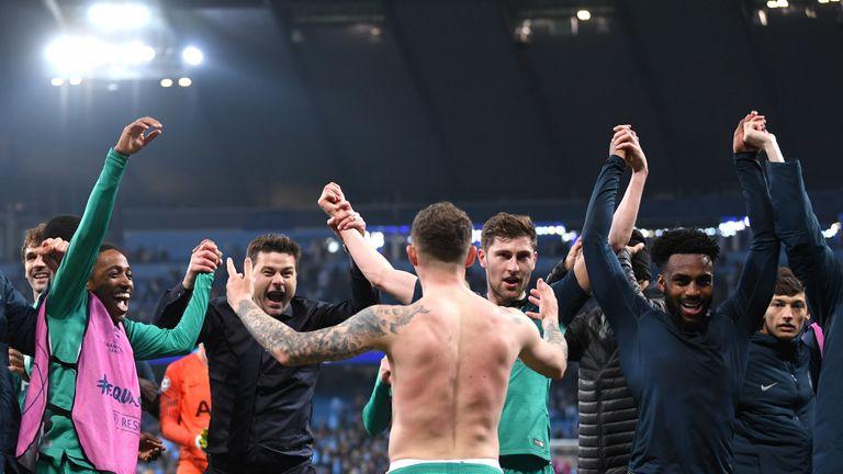 Mauricio Pochettino hailed the heroic efforts of his Tottenham players on Wednesday