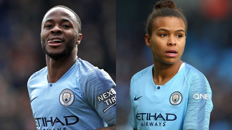 It was a double celebration for Man City duo Raheem Sterling and Parris