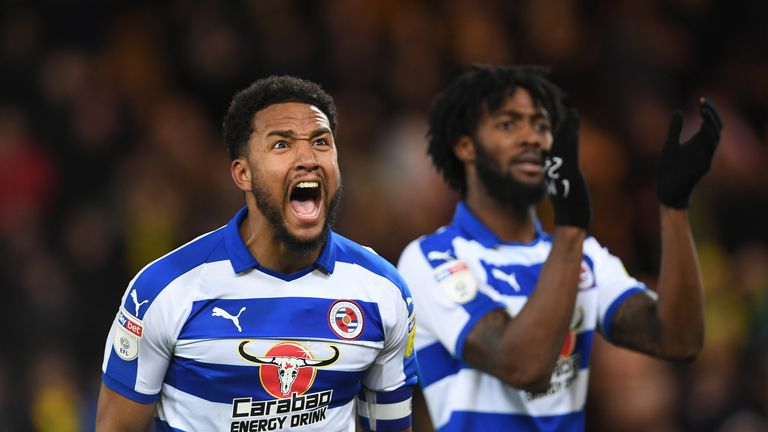 Reading's Liam Moore celebrates at the final whistle