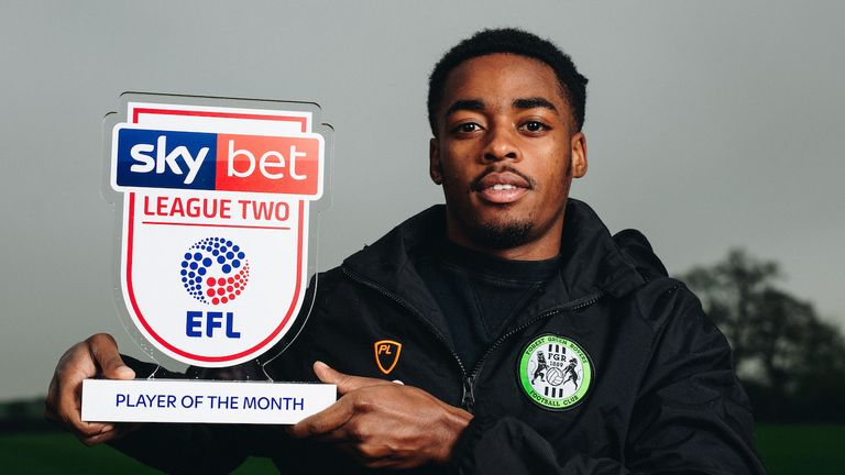 Forest Green midfielder Reece Brown is the Sky Bet League Two Player of the Month for March