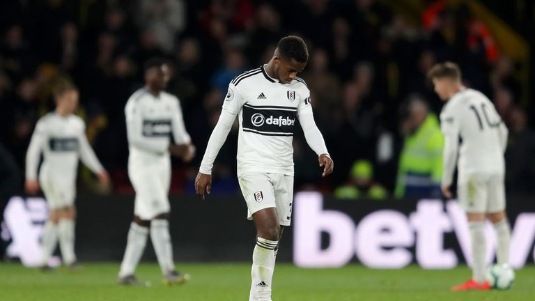 Ryan Sessegnon cuts a dejected figure as Fulham's relegation was confirmed