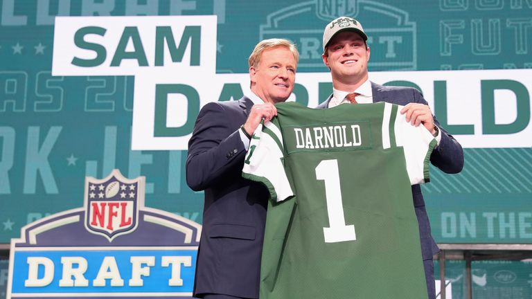 The New York Jets traded up to select Sam Darnold last year