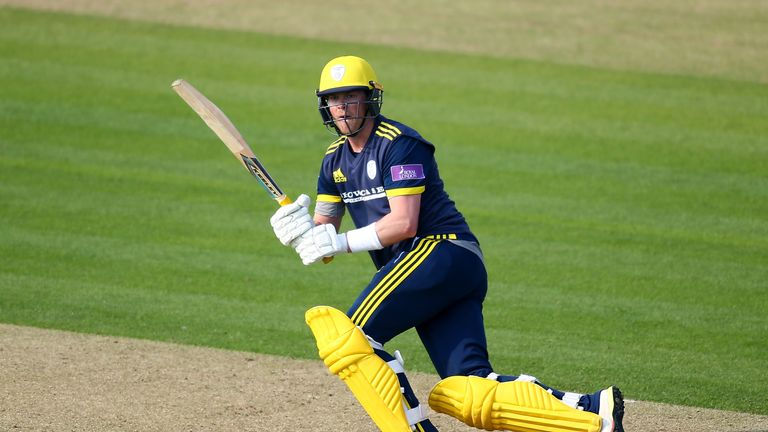 Sam Northeast previously a century on List A debut for Hampshire